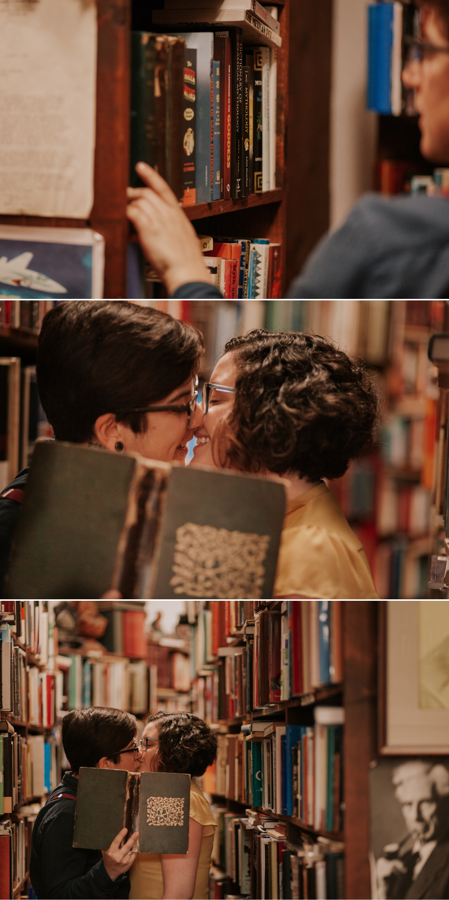 Same sex bookstore engagement at DJ Wills La Jolla by Paige Nelson