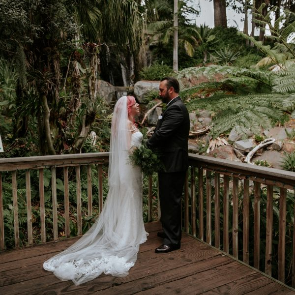 Intimate San Diego Botanic Garden Wedding