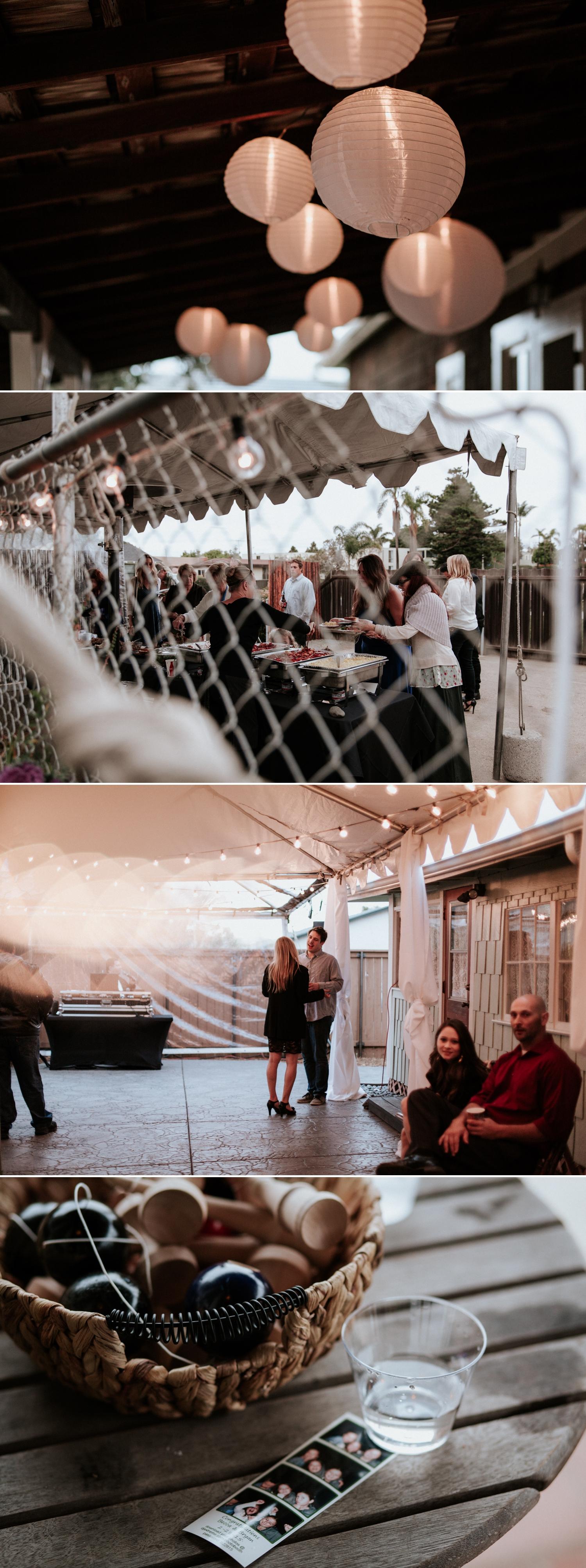 Backyard wedding in San Diego by Paige Nelson