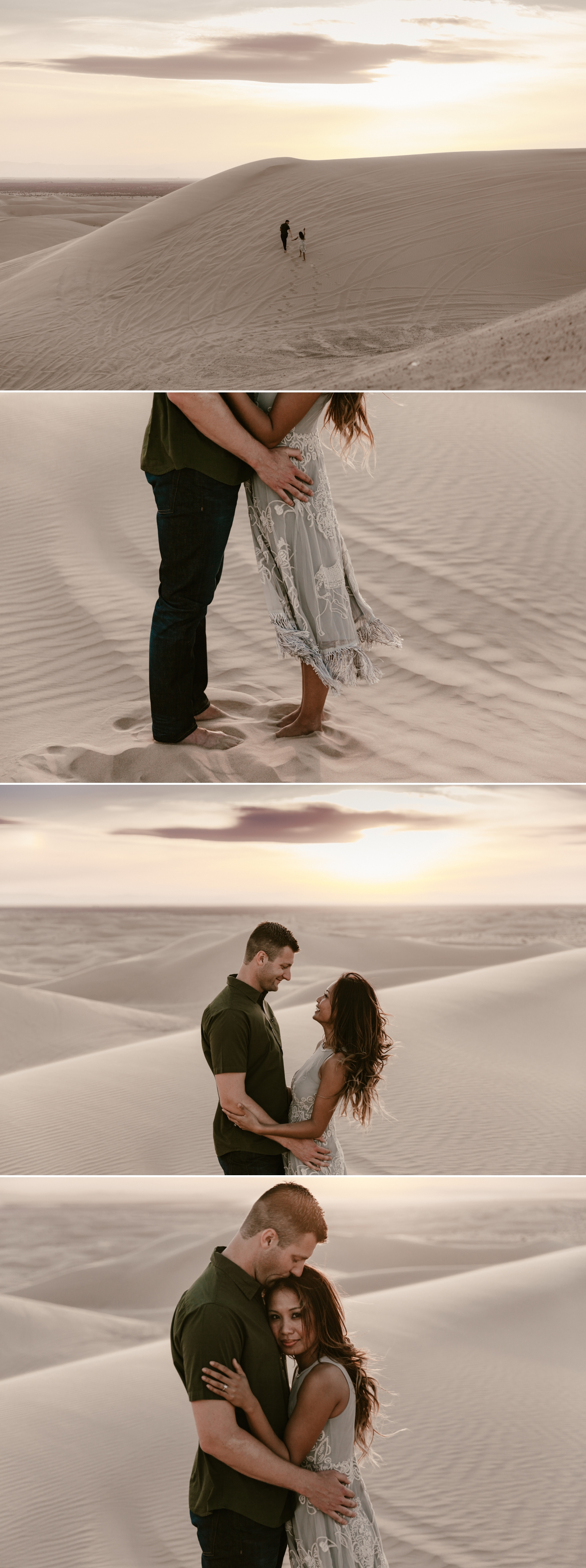 Sand dunes engagement in Glamis by Paige Nelson