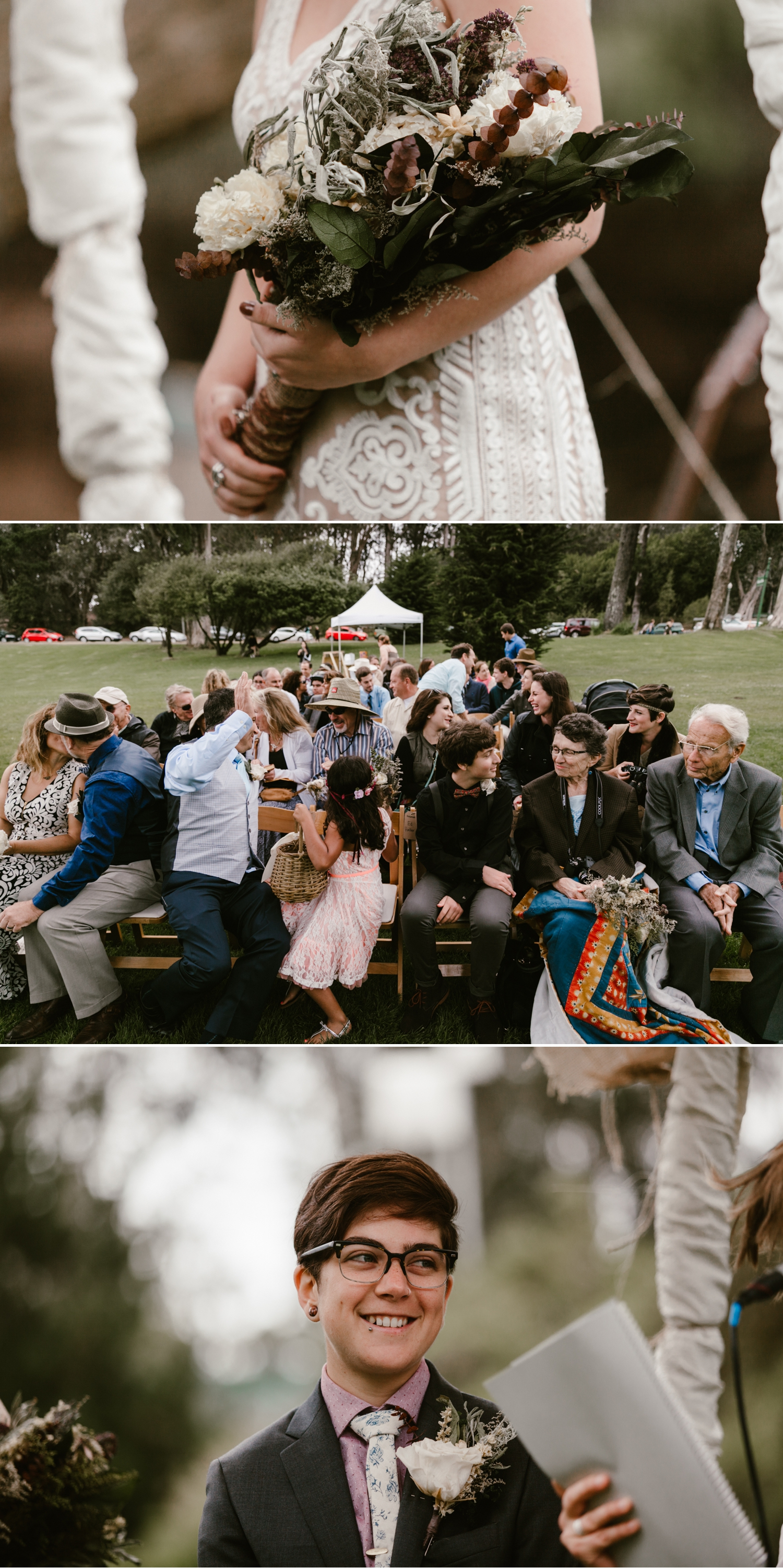 Intimate same sex wedding in Golden Gate Park San Francisco by Paige Nelson