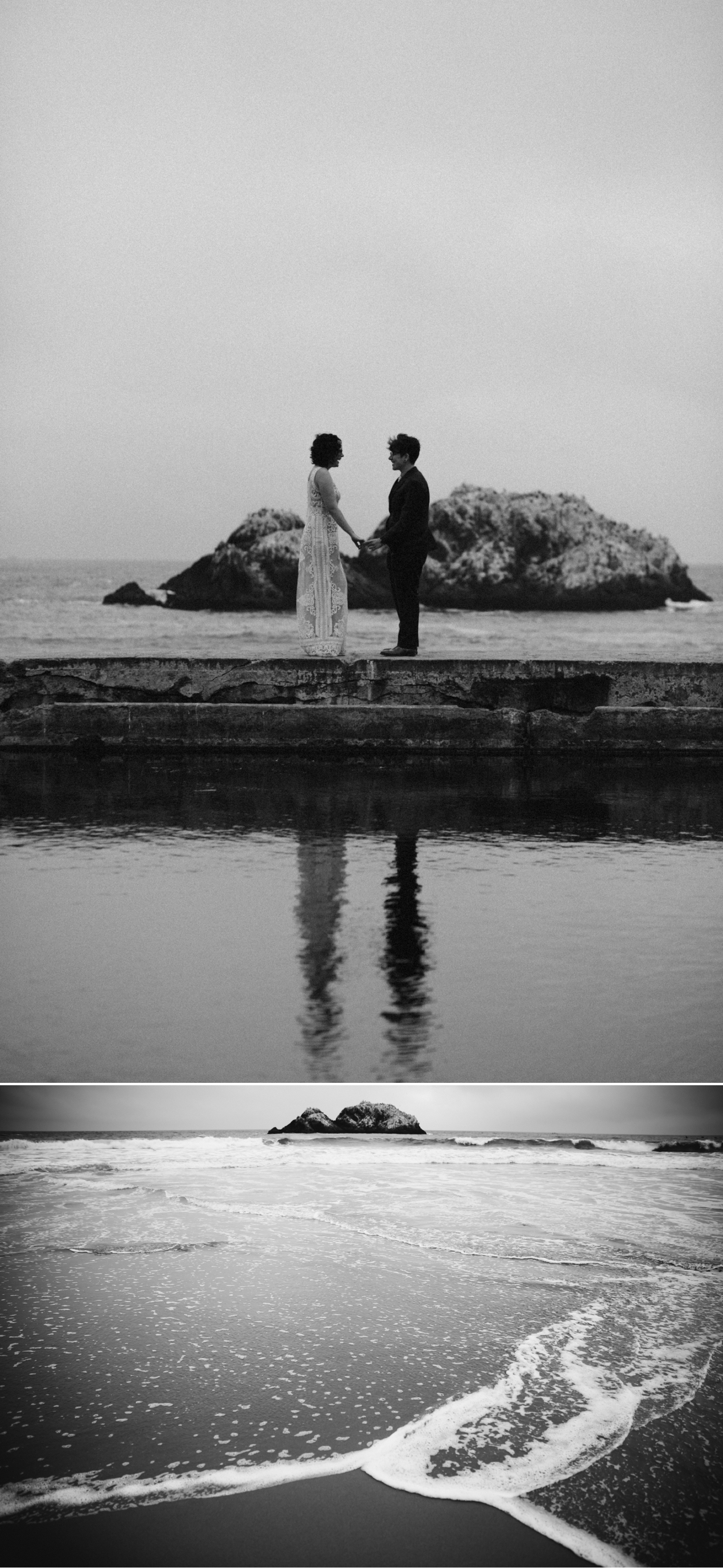 Intimate same sex wedding at Sutro Baths in San Francisco by Paige Nelson