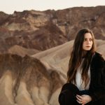 The Little Miss portraits in Death Valley at Zabriskie Point by Paige Nelson