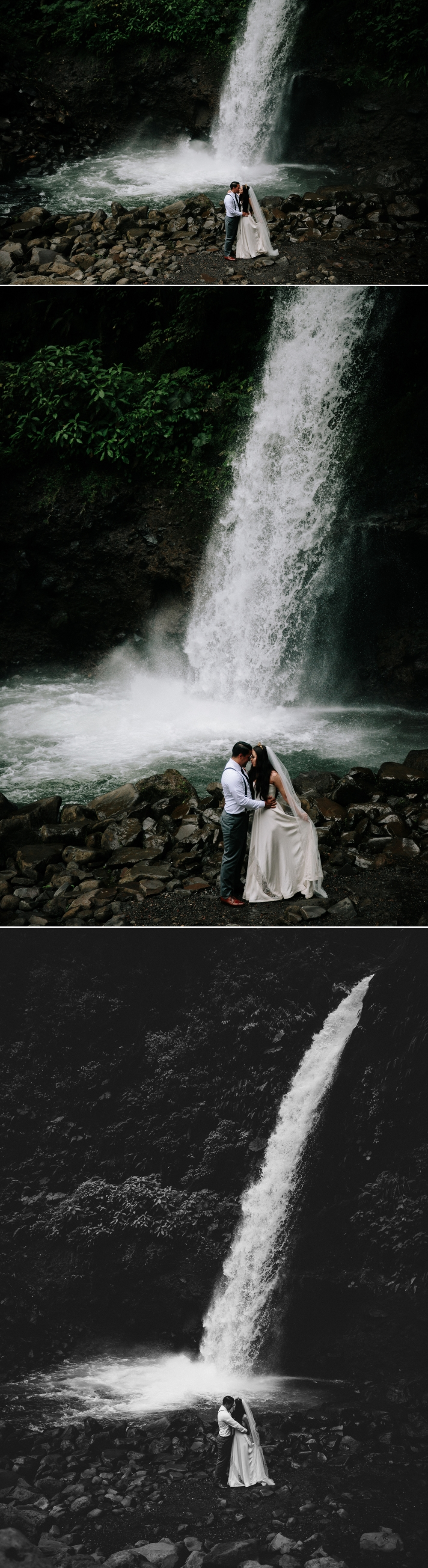 Waterfall elopement by San Diego photographer Paige Nelson