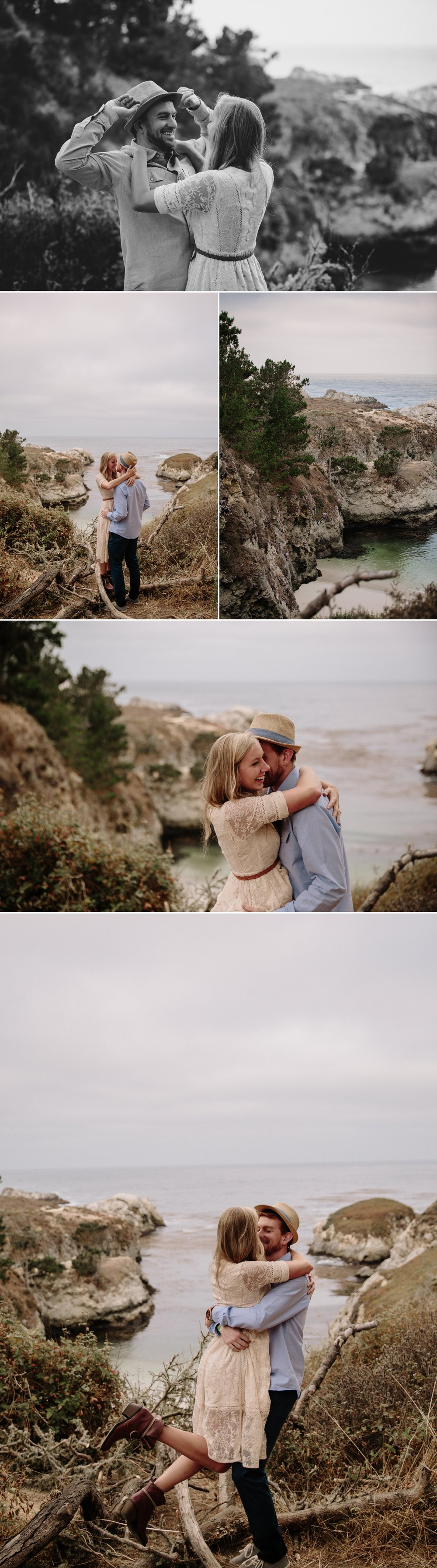 Point Lobos engagement at China Cove by San Diego Photographer Paige Nelson