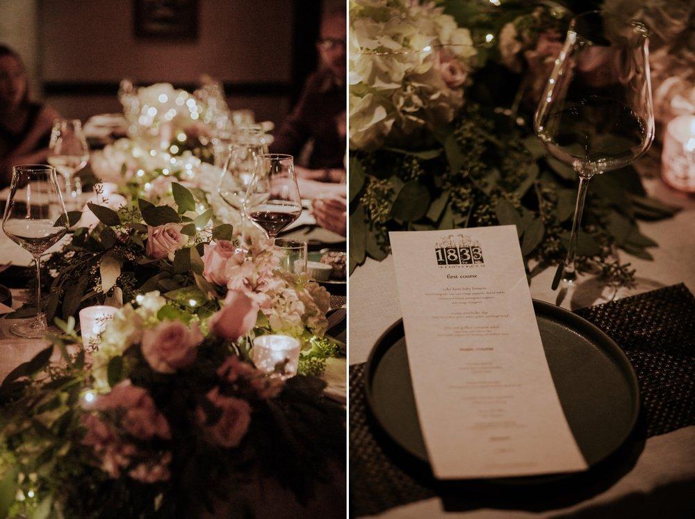 Wedding reception at Restaurant 1833 in Monterey by San Diego Photographer Paige Nelson