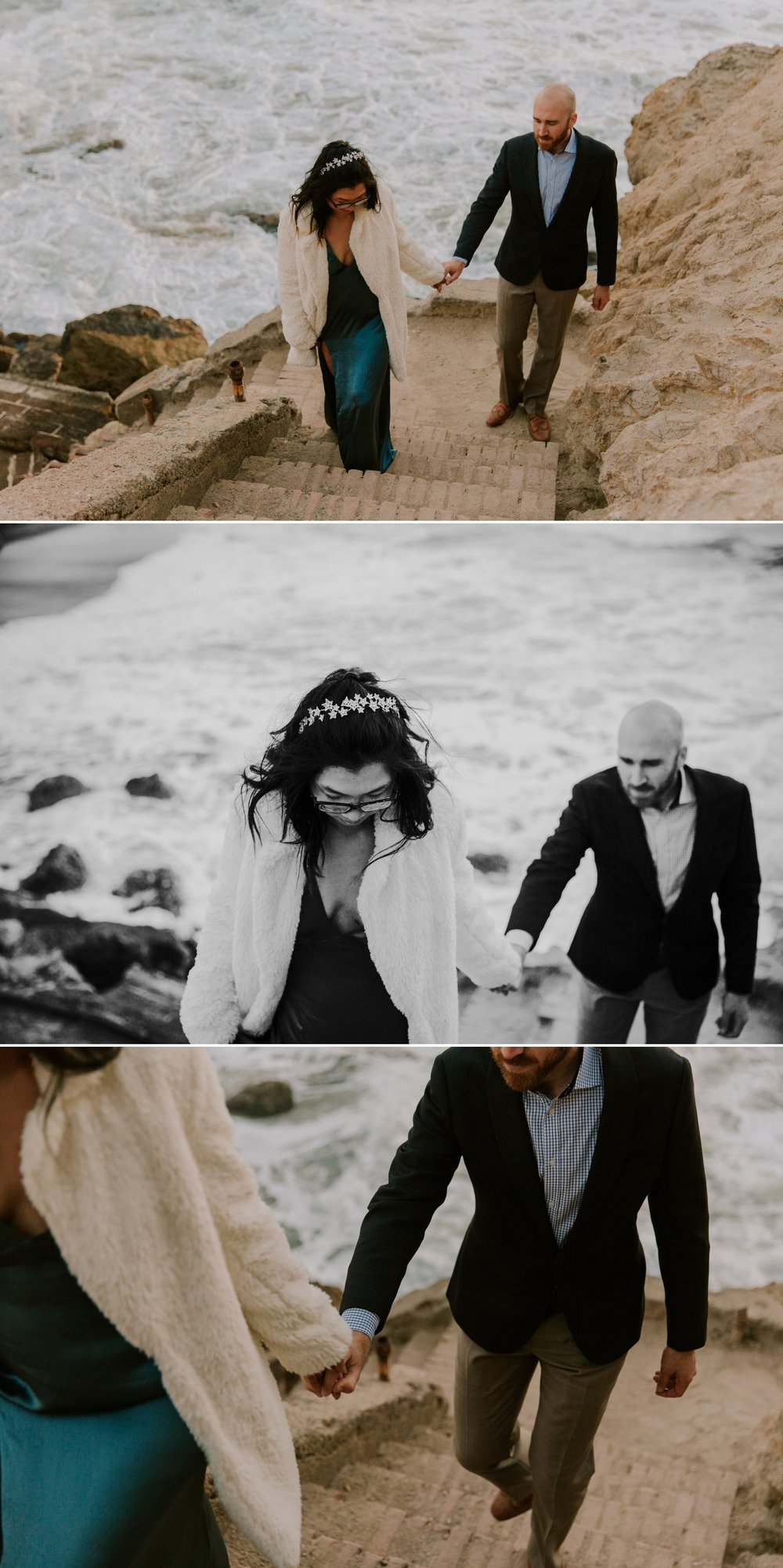 Engagement at Sutro Bath Ruins in San Francisco by San Diego Photographer Paige Nelson