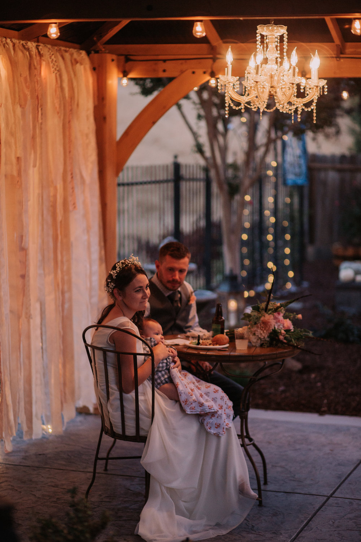 intimate backyard wedding in roseville stephanie u0026 kord