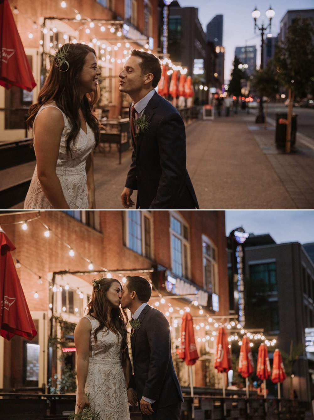 Wedding portraits in Gaslamp Quarter by San Diego photographer Paige Nelson