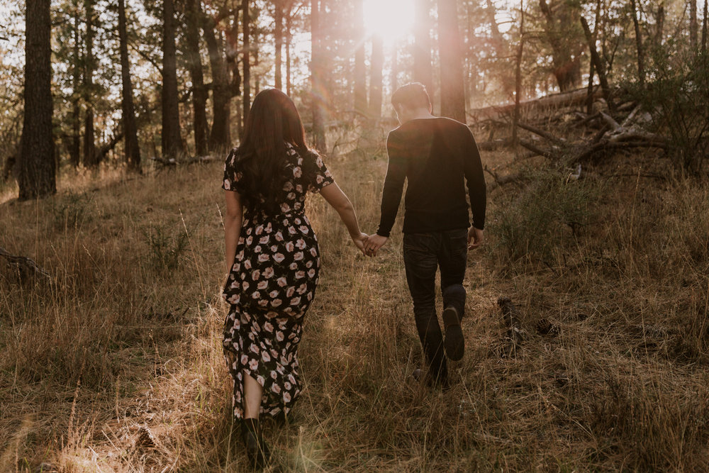 Mt Laguna engagement in woods by San Diego Photographer Paige Nelson