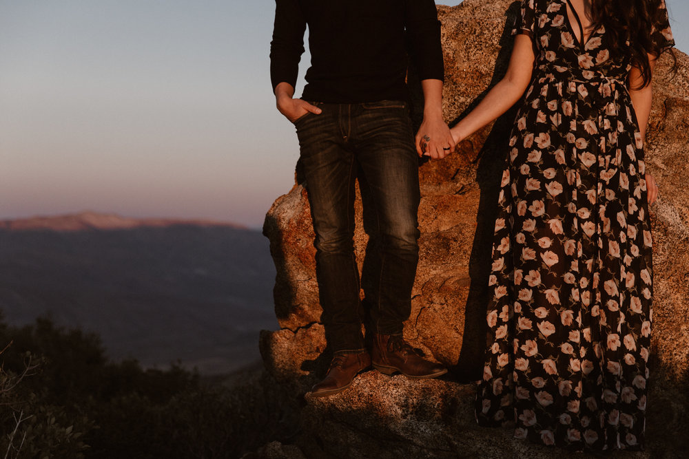 Mt Laguna engagement over Anza by San Diego Photographer Paige Nelson