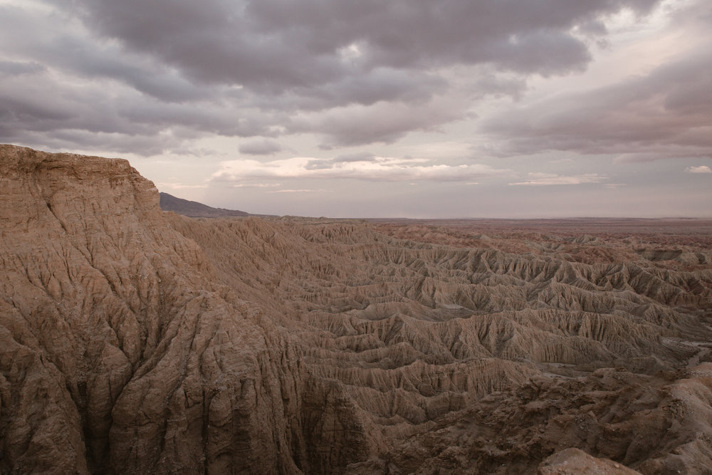 Font's Point at sunset in Anza Borrego by San Diego photographer Paige Nelson