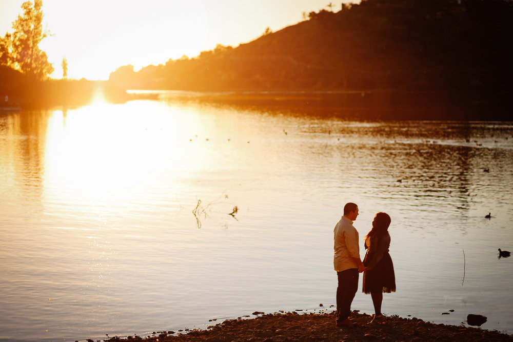 Lake Murray engagement photos in La Mesa by San Diego photographer Paige Nelson