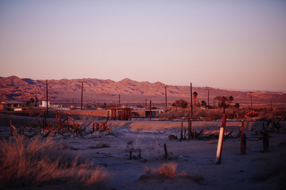 Sunset over Bombay Beach in Salton Sea by San Diego photographer Paige Nelson