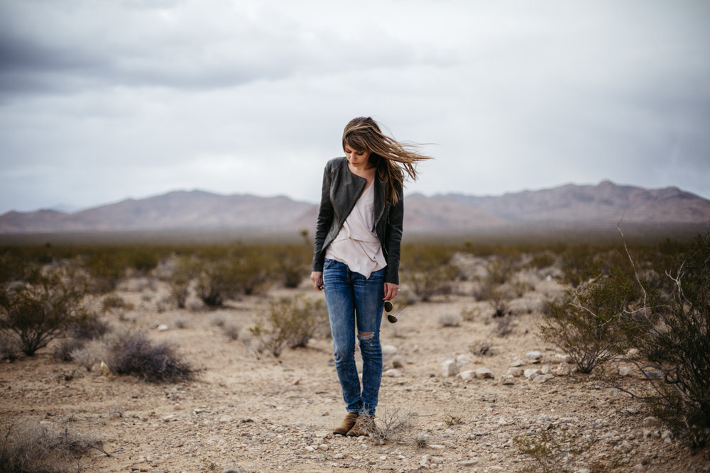 Self portrait in Las Vegas desert by San Diego photographer Paige Nelson