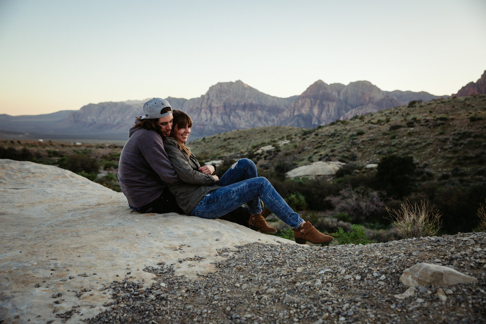 Couples portraits in Red Rock Canyon, Las Vegas by San Diego photographer Paige Nelson