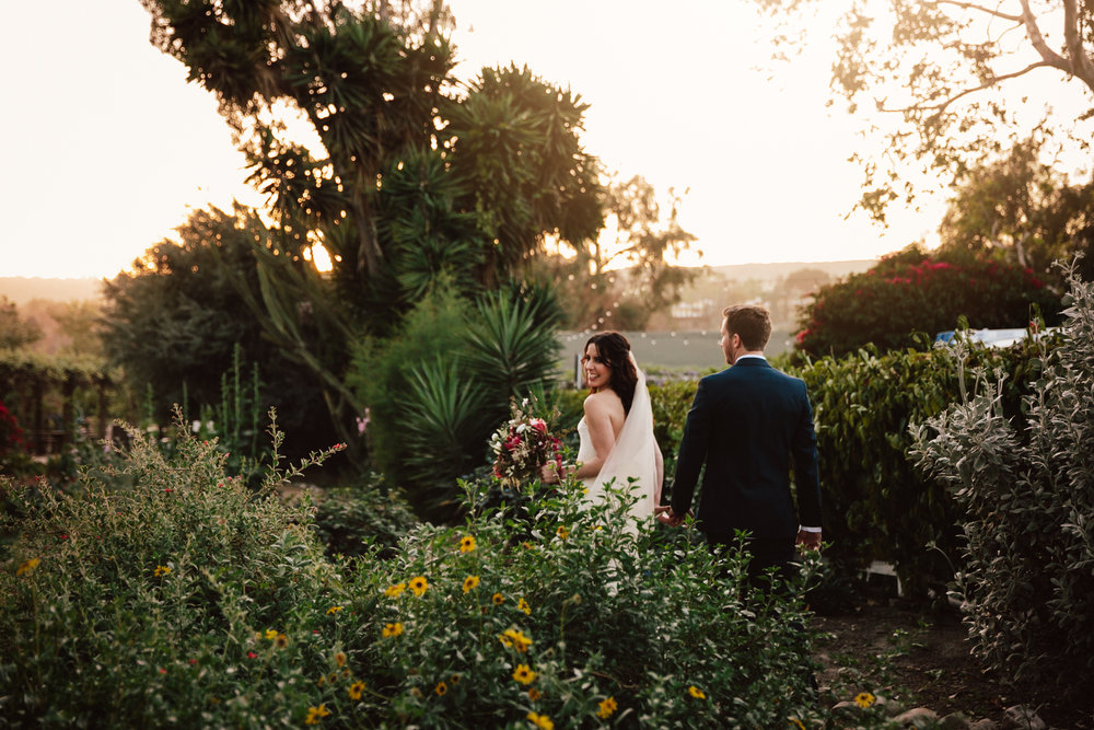 Francsican Garden wedding in San Juan Capistrano by San Diego photographer Paige Nelson