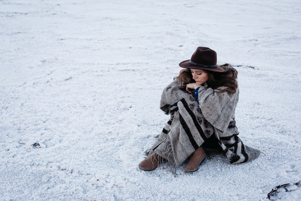 The Little Miss at salt flats in Death Valley by San Diego photographer Paige Nelson