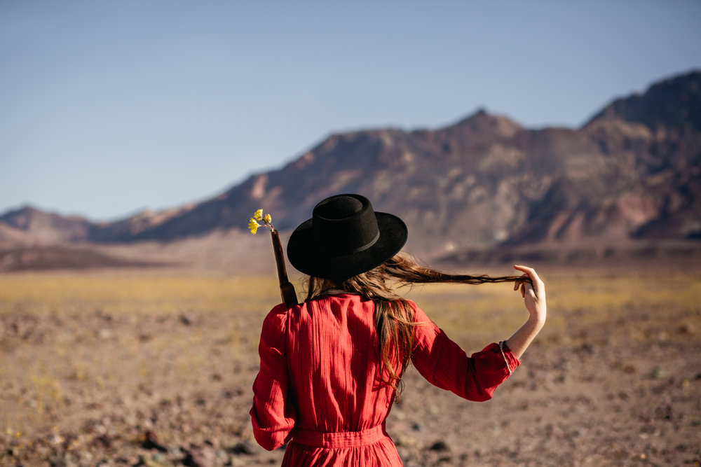 The Little Miss in Death Valley Superbloom 2016 by San Diego photographer Paige Nelson