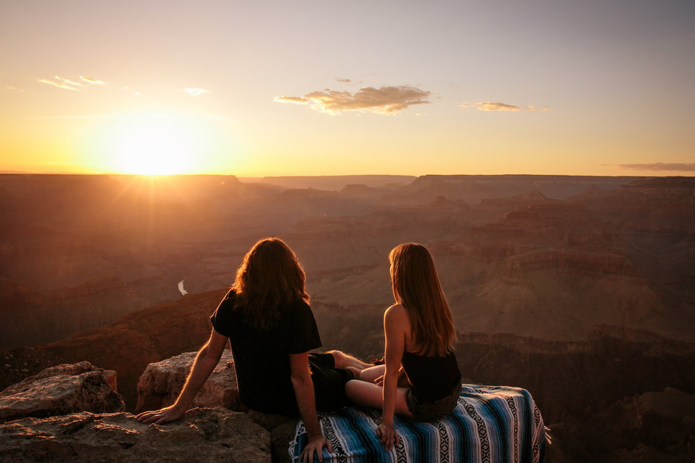 Sunset over Havapai Point Grand Canyon by San Diego photographer Paige Nelson