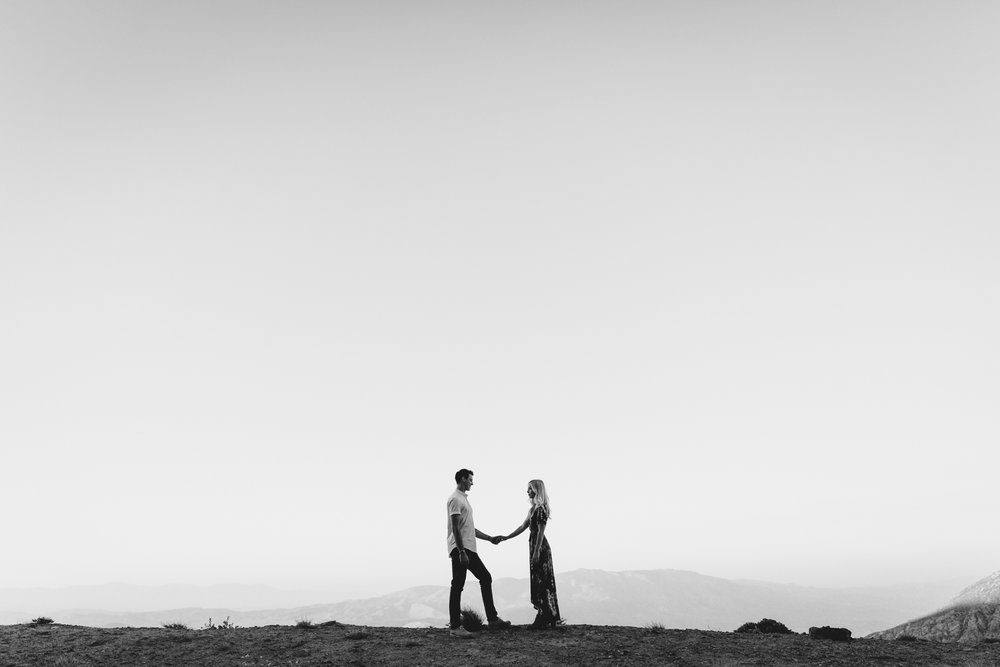 Mt Laguna engagement at Pacific crest trail by San Diego photographer Paige Nelson