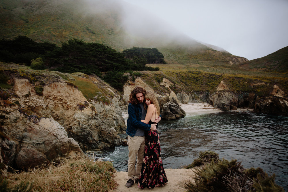 Couples portrait at Garrapata State Park in Carmel by San Diego photographer Paige Nelson