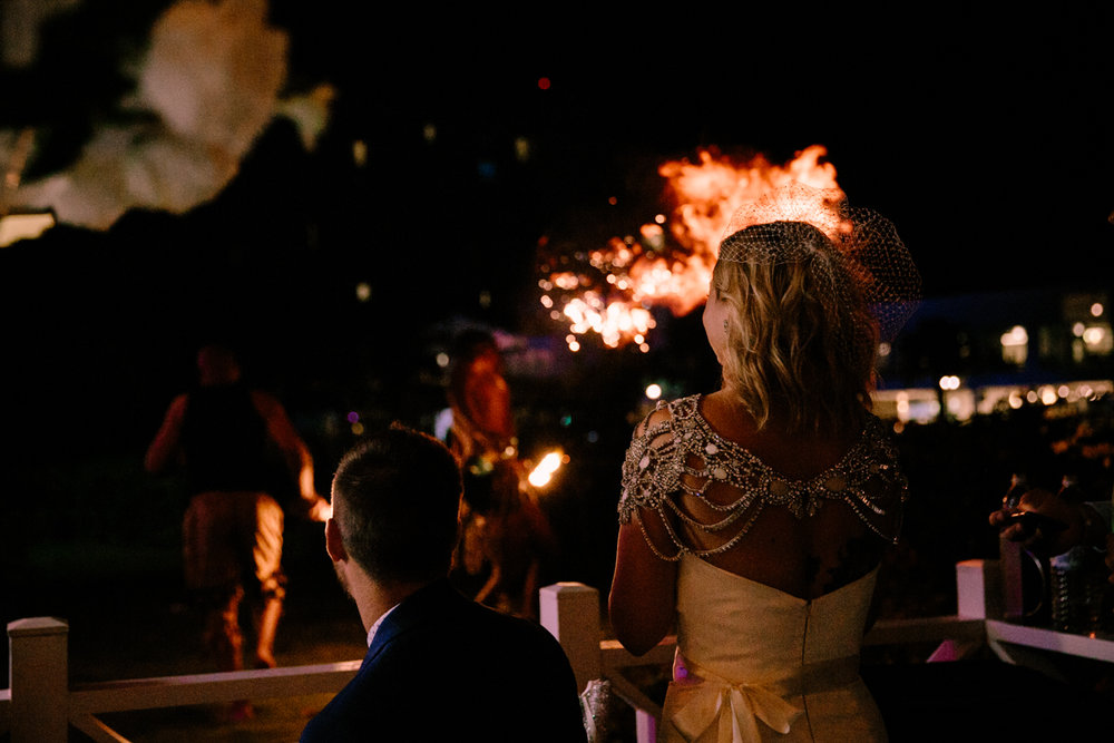 Fire breathers for wedding in Jamaica by San Diego photographer Paige Nelson
