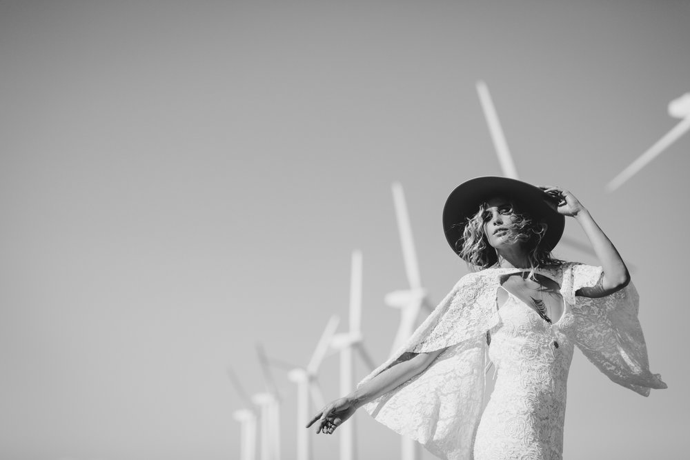 Rue de Seine Love spell in Palm Springs wind turbines by San Diego photographer Paige Nelson