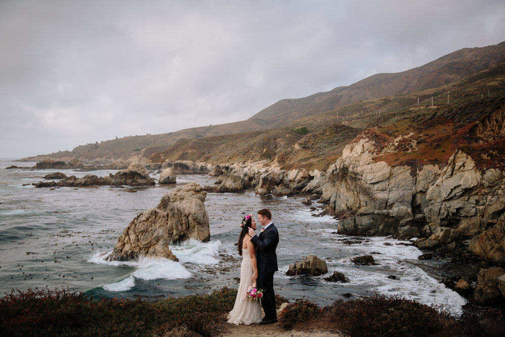 Wedding portraits in Garrapata State Park in Carmel by San Diego photographer Paige Nelson