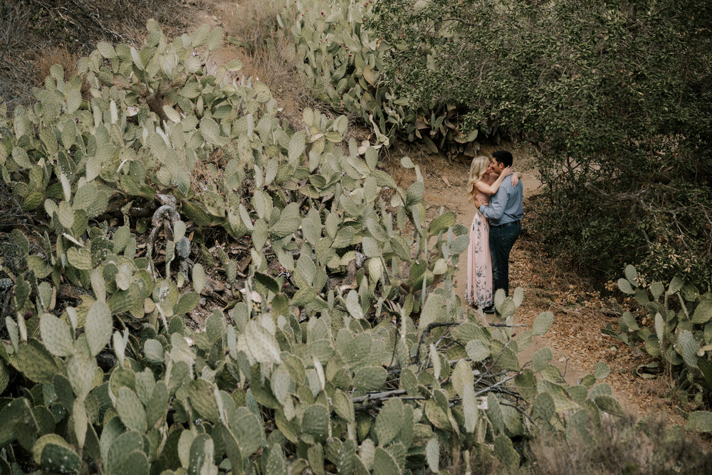 Cactus garden engagement at Oak Canyon Nature Center by San Diego photographer Paige Nelson