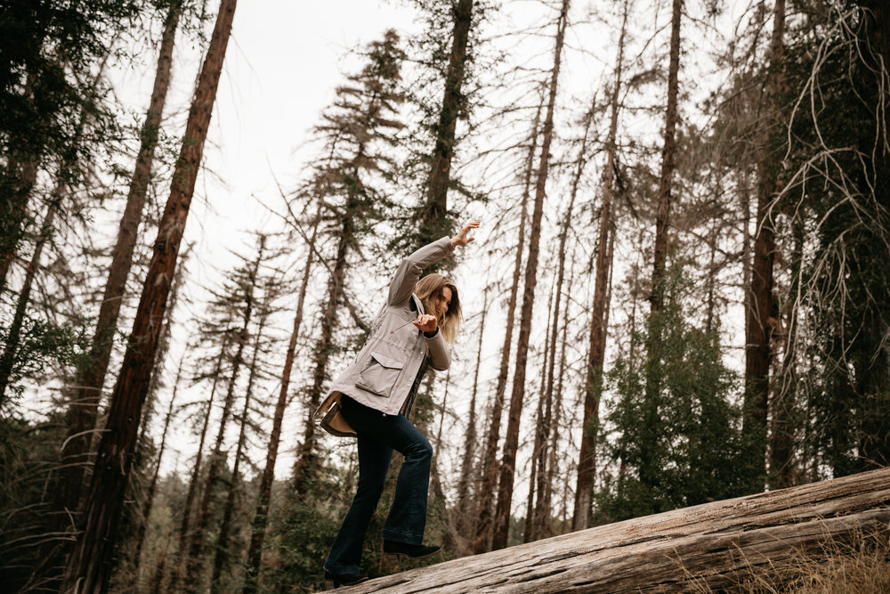 Portraits of Nicole Clark in redwoods at Balboa park by San Diego photographer Paige Nelson