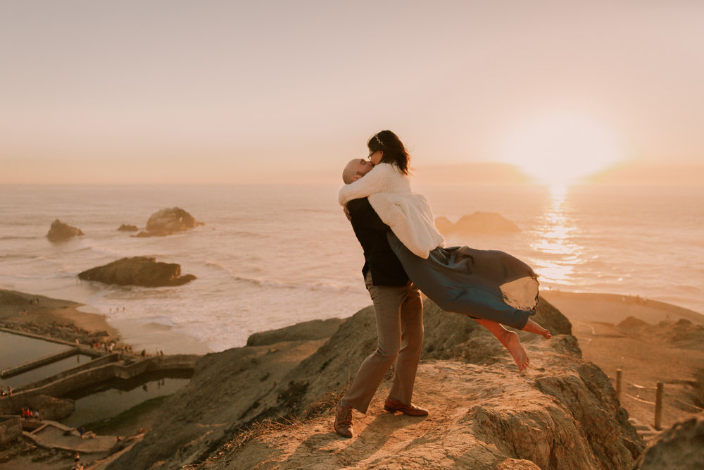 Sutro Baths engagement at Land's End in San Francisco by San Diego photographer Paige Nelson