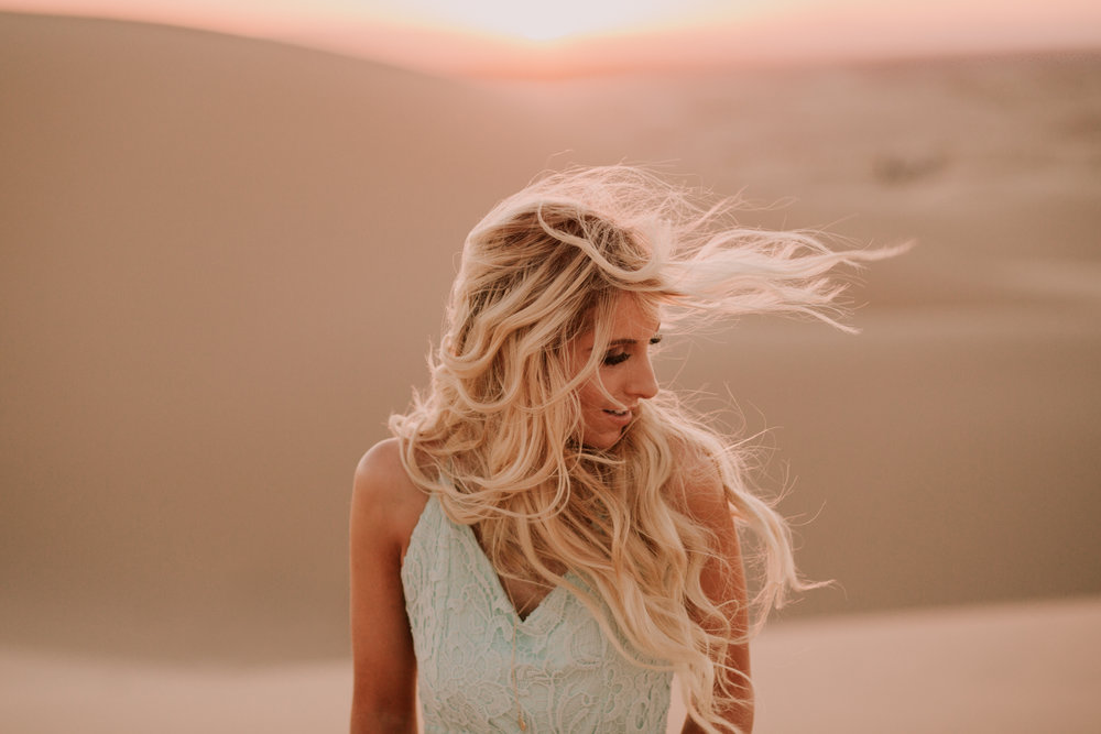 Sand Dunes portraits of jessie chris by San Diego photographer Paige Nelson