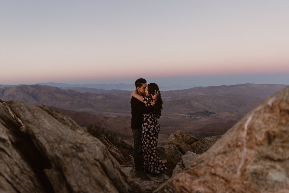 Mt Laguna engagement overlooking Anza Borrego by San Diego photographer Paige Nelson