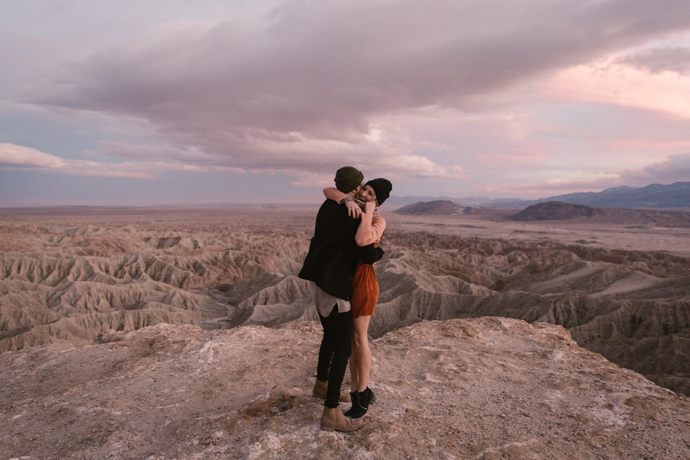 Engagement at Font's Point in Anza Borrego by San Diego photographer Paige Nelson
