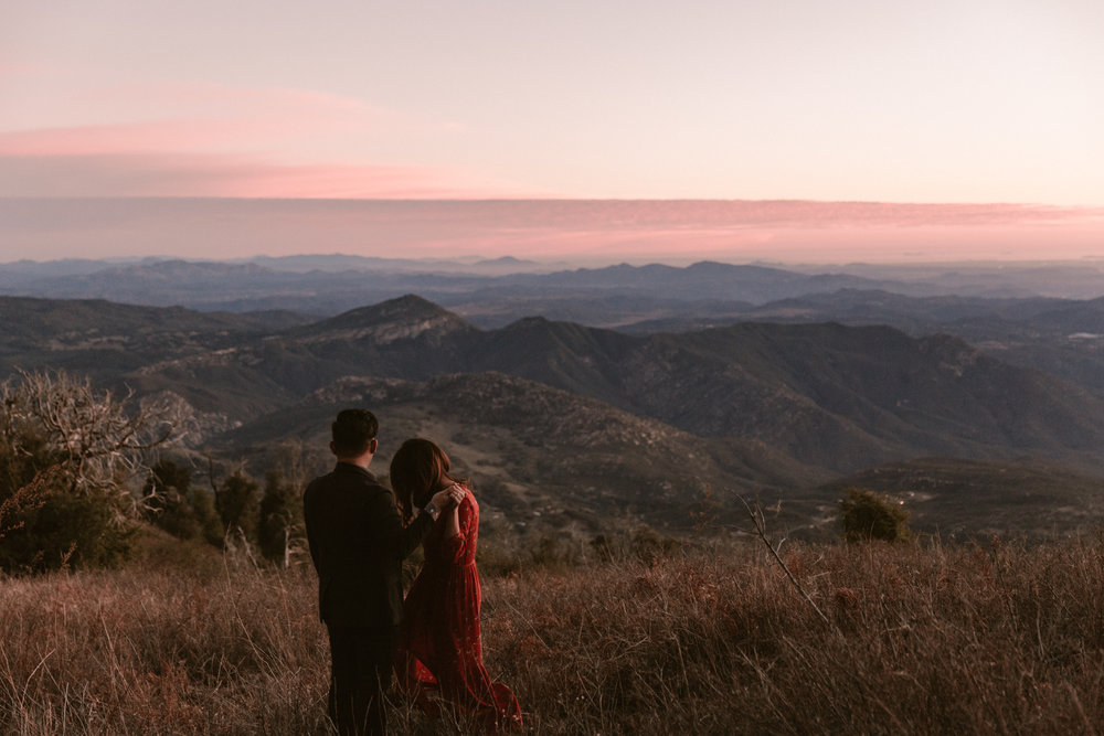 Palomar mountain engagement by San Diego photographer Paige Nelson