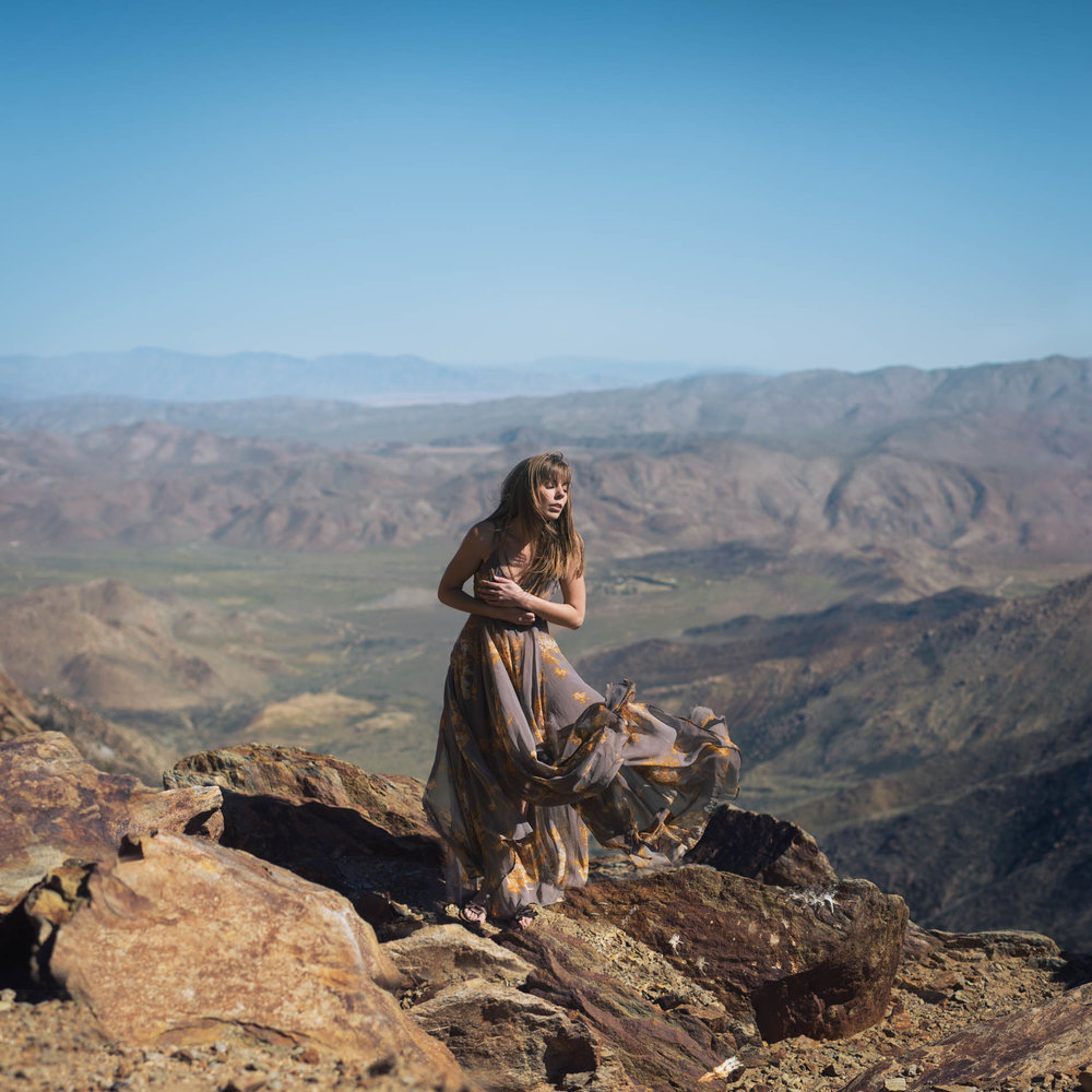 Self portrait in Mt Laguna overlooking Anza Borrego desert by San Diego photographer Paige Nelson