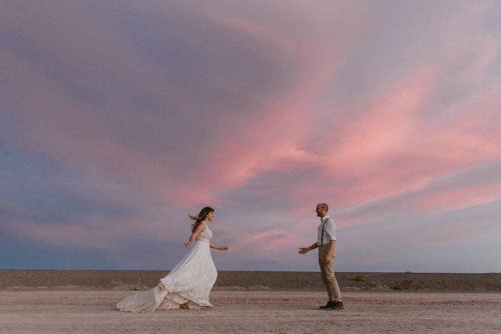 Dry Lake Bed elopement in Boulder, Nevada by San Diego photographer Paige Nelson