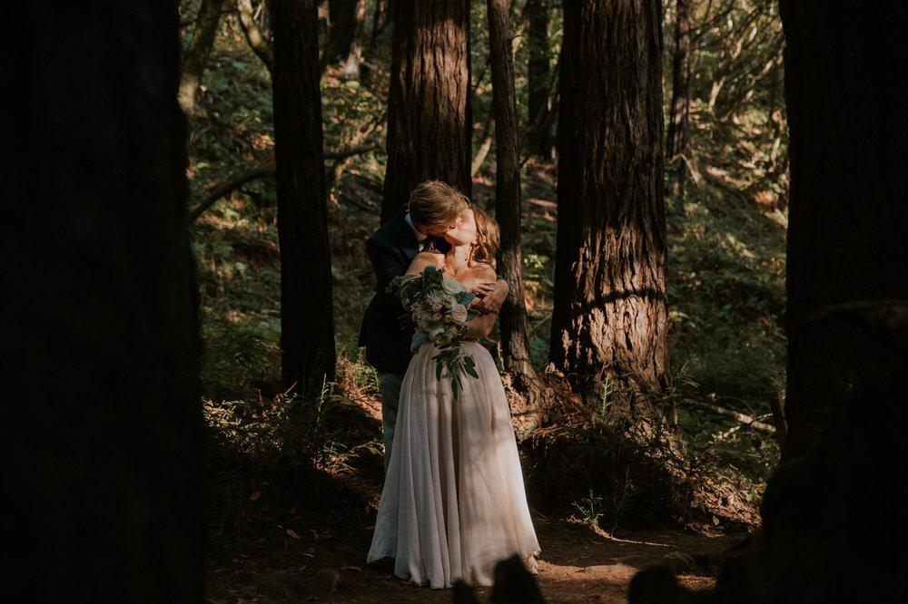 Intimate Big Sur wedding at Limekiln by San Diego photographer Paige Nelson