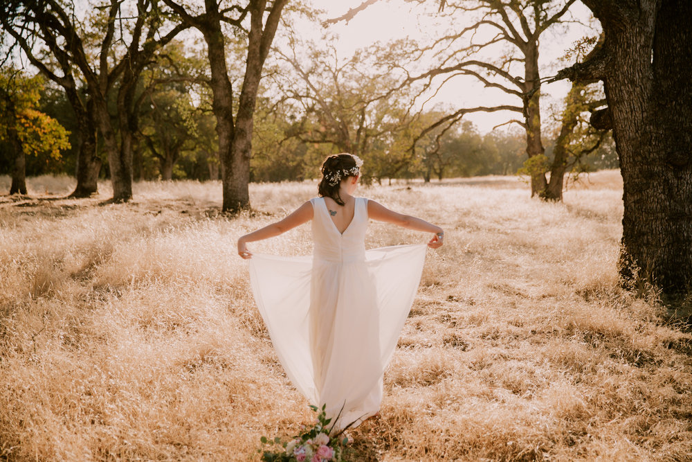 Bridal portraits in field roseville ca by San Diego photographer Paige Nelson