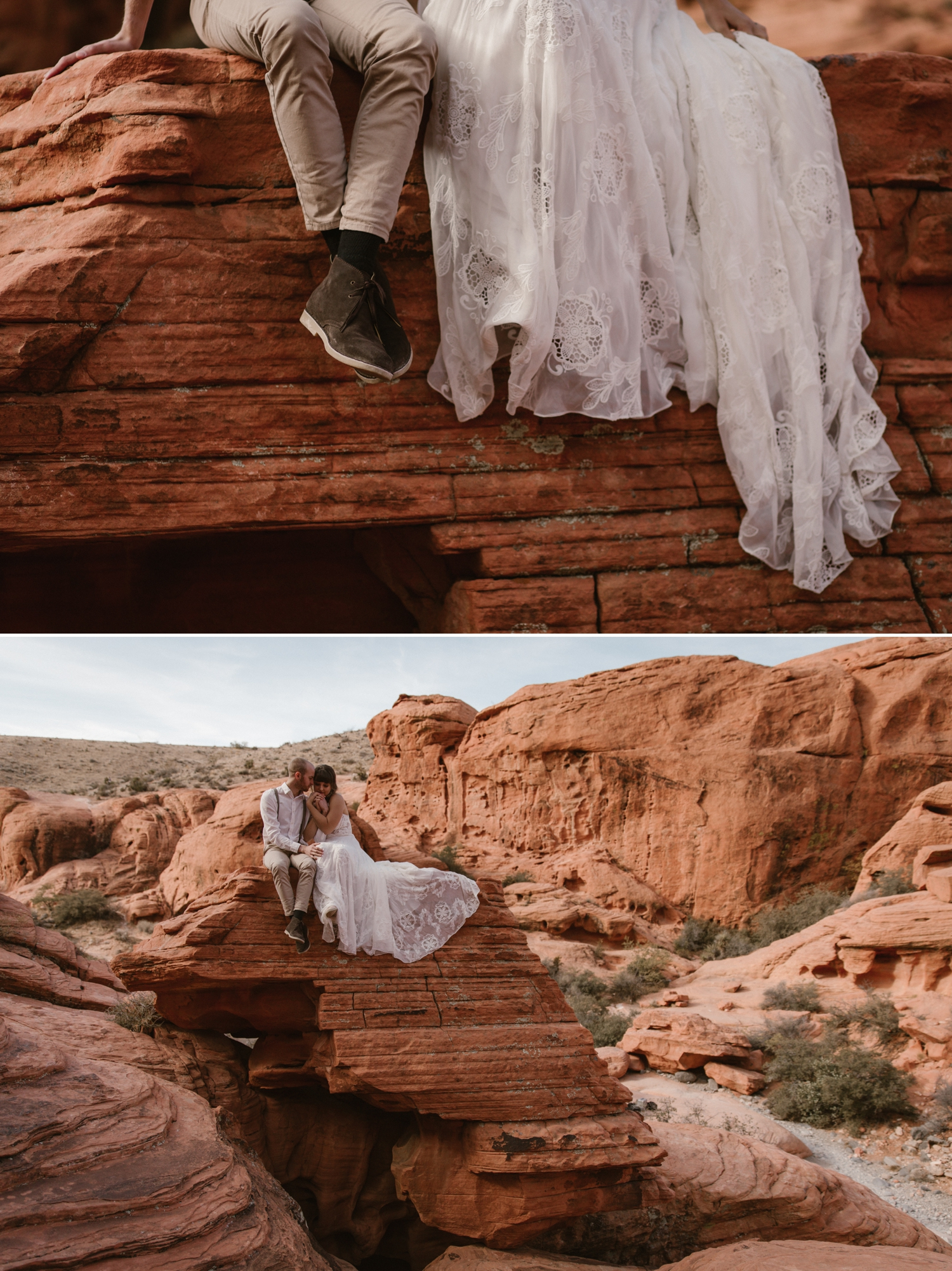 Styled elopement at Red Rock Canyon Las Vegas by Paige Nelson