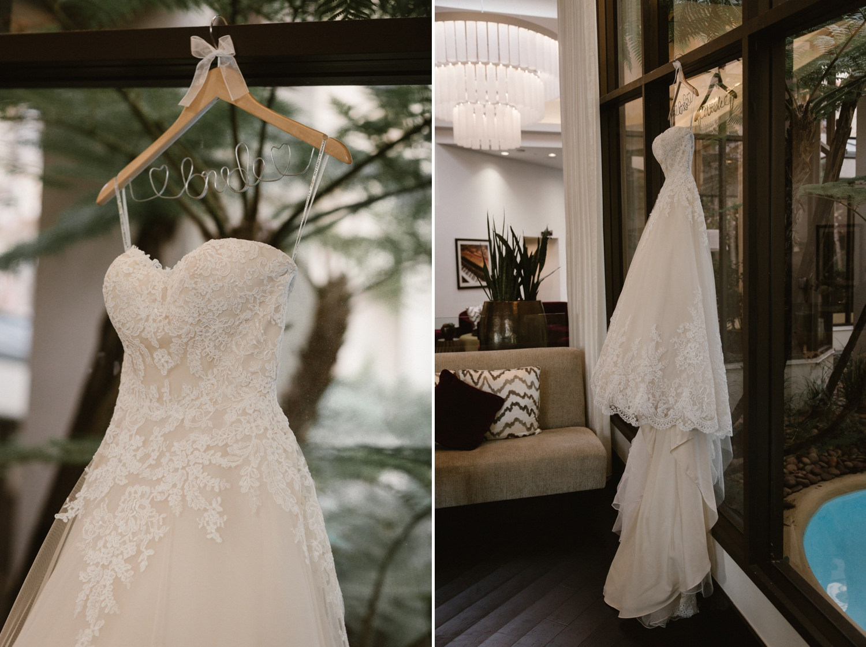 Sottero and Midgley bridal gown, Santa Ana hotel