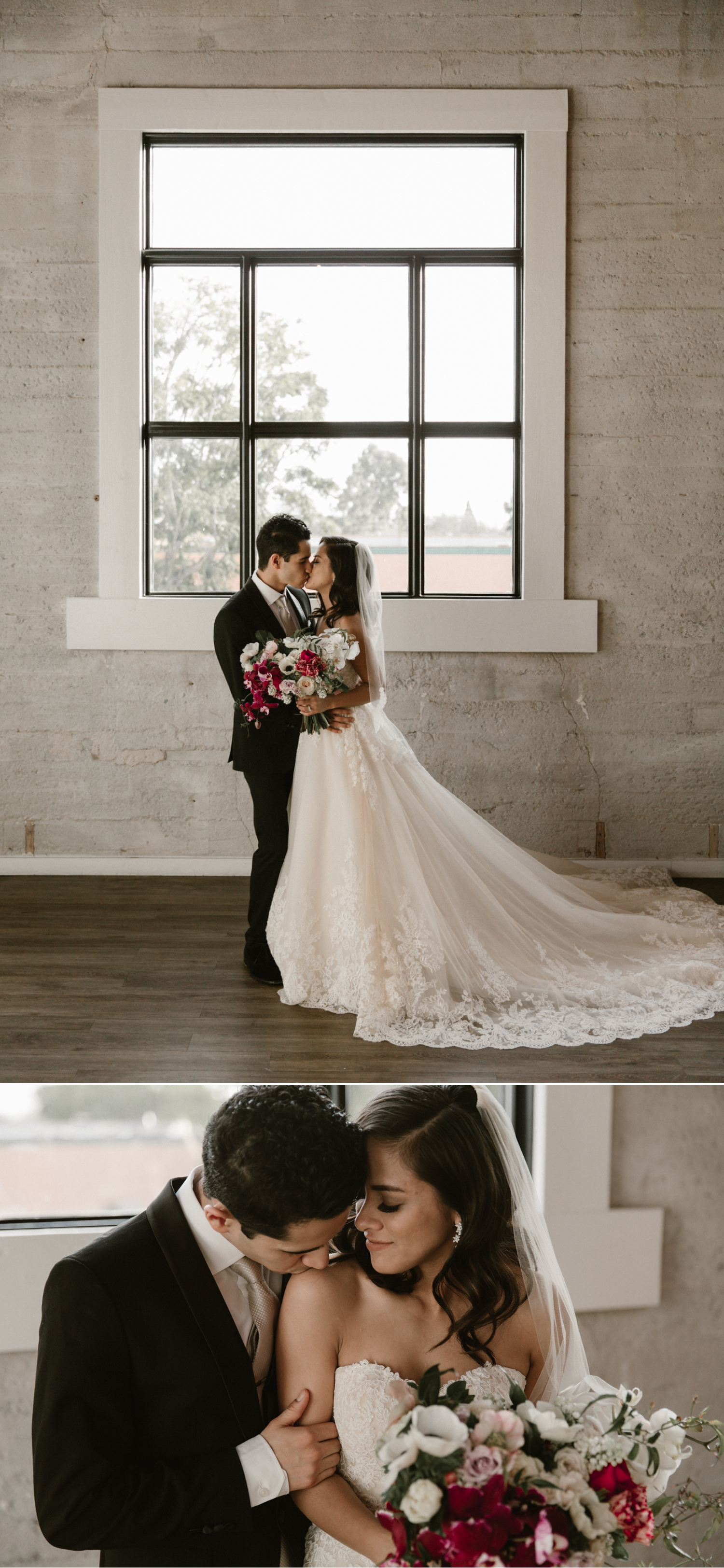 Bride and groom portraits at 1912 wedding in Santa Ana by Paige Nelson