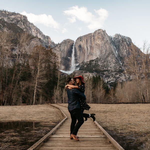 Winter Yosemite Engagement