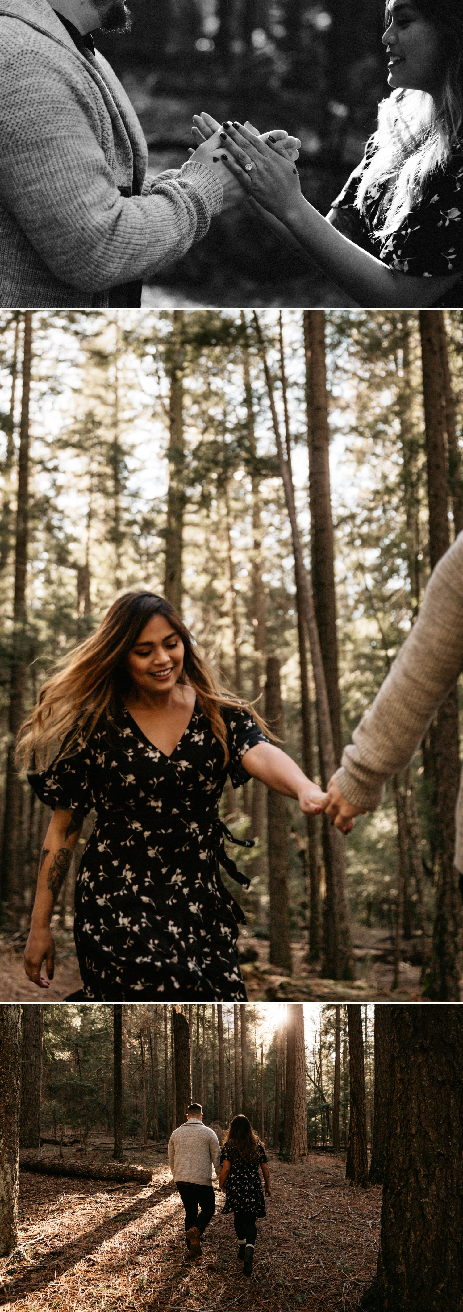 Redwood forest engagement in Yosemite by Paige Nelson, Nixie and Mike