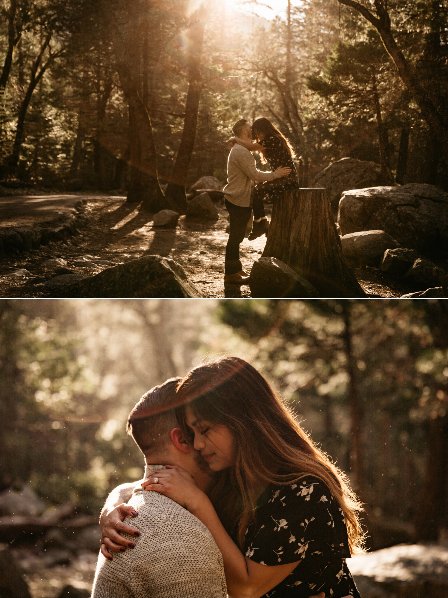 Bridalveil fall engagement in Yosemite by Paige Nelson, Nixie and Mike
