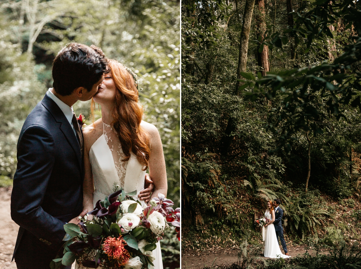 Intimate forest wedding in Nisene Marks Santa Cruz by Paige Nelson