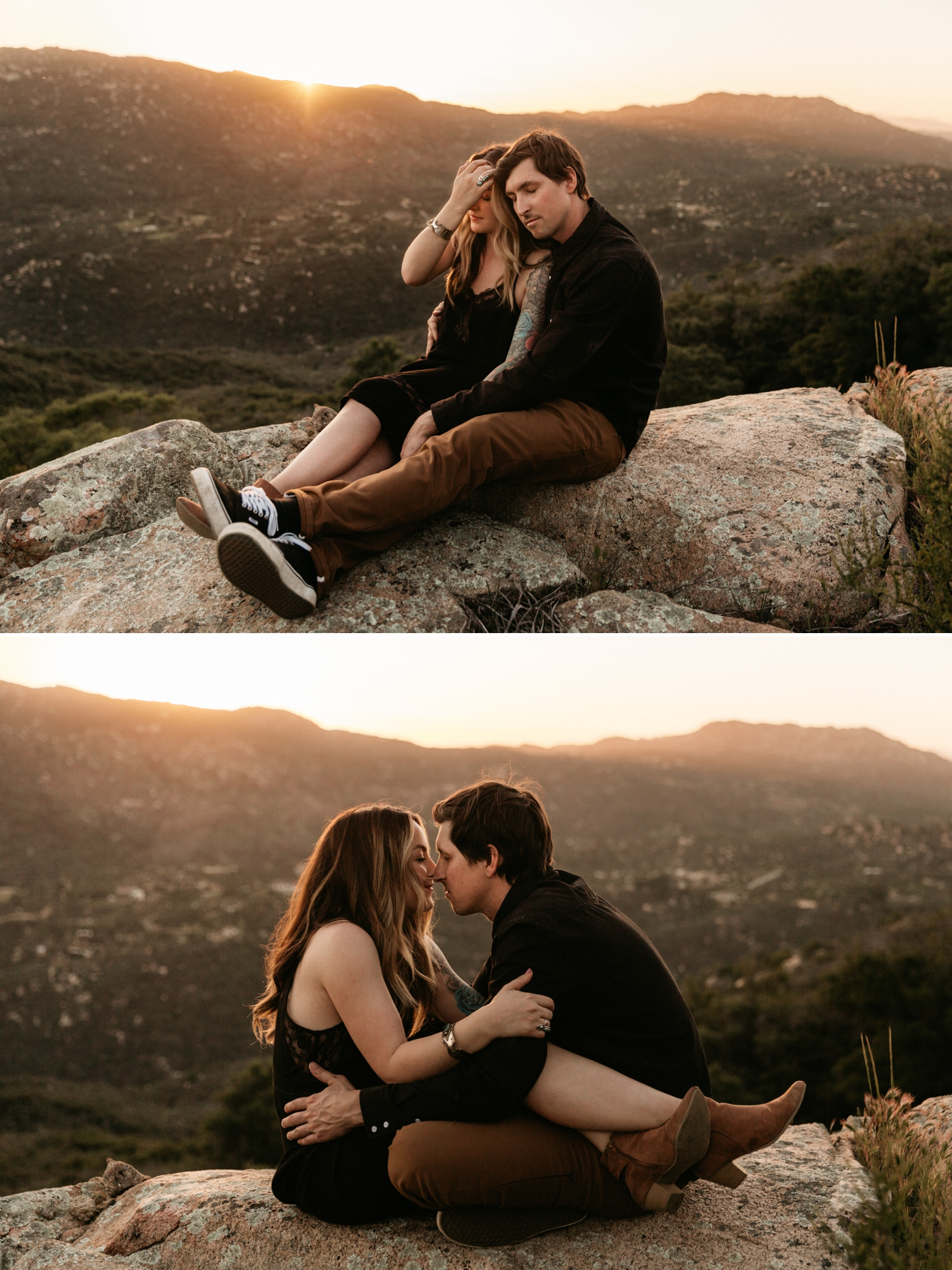 Sunset engagement in Pala Temecula San Diego, Kerri and Jared
