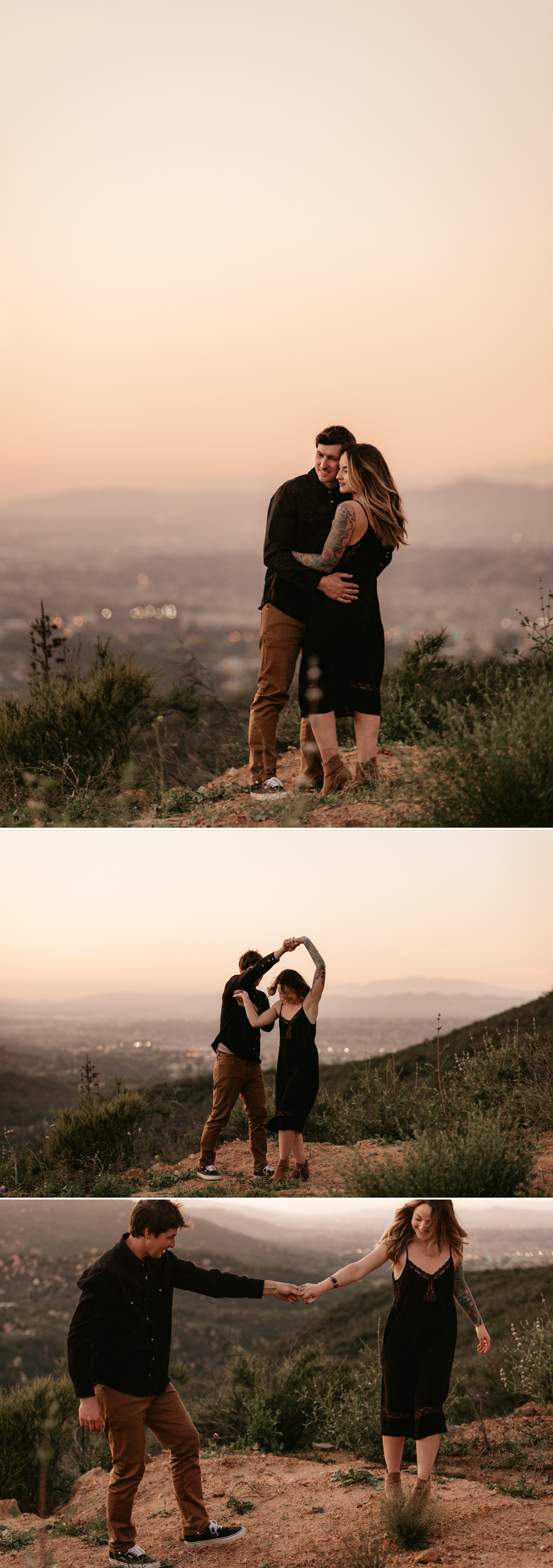 Sunset hike engagement in San Diego by Paige Nelson