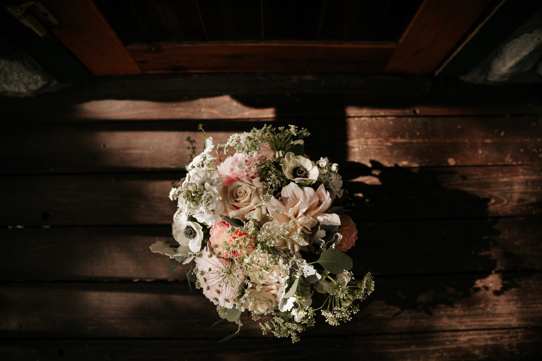 Bouquet for Big Bear lakeside elopement